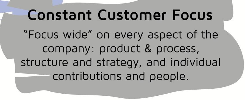 constant customer focus